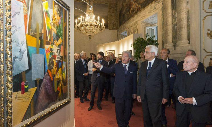 Il presidente Mattarella inaugura mostra su Guttuso al Quirinale
