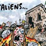 terremoto vignetta satirica