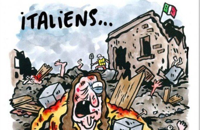 Charlie Hebdo: la vignetta che ha scatenato le ire degli italiani