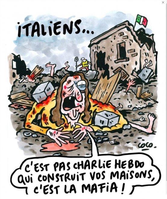 seconda vignetta satirica sul terremoto