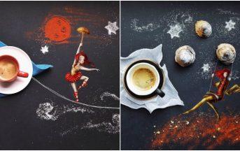 Storie raccontate attraverso il cibo: ecco le acrobate di Cinzia Bolognesi