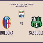 Bologna-Sassuolo probabili formazioni Serie A