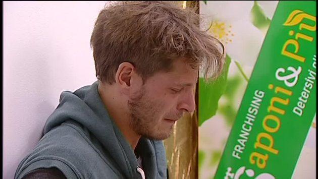 Gabriele Rosi in lacrime
