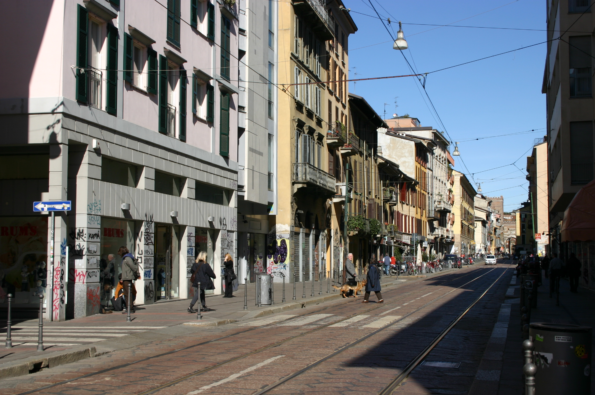 Milano donna nuda