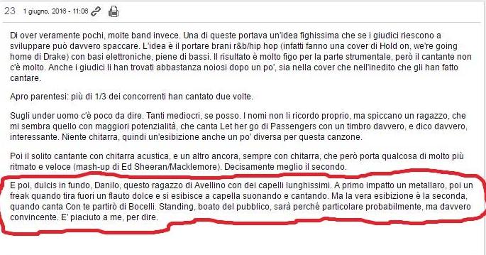 X Factor: la polemica di Danilo D'Ambrosio sulla manipolazione del suo provino