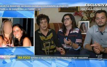Valentina Milluzzo ultime notizie a Pomeriggio 5: il racconto della famiglia