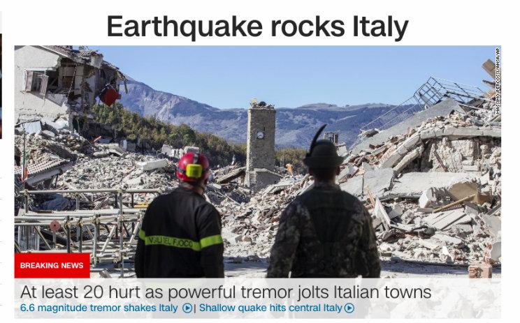 cnn terremoto in italia