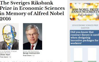 Premio Nobel per l'Economia ad Hart ed Holmstrom: vi spieghiamo il perché