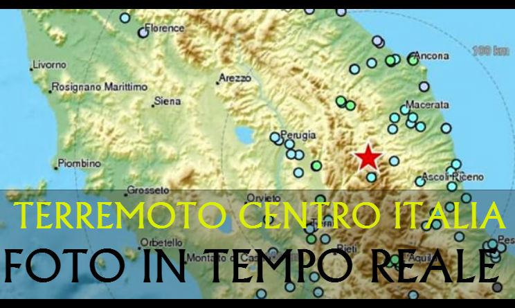 foto terremoto in centro italia in tempo reale tutte le