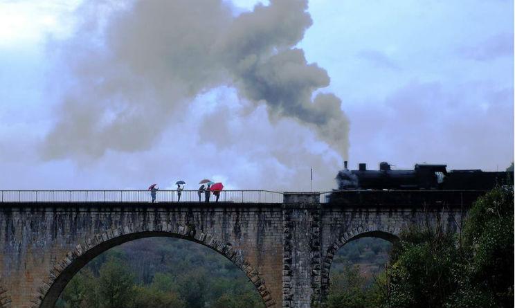 Treno a vapore da Roma a Ceprano prima di Natale