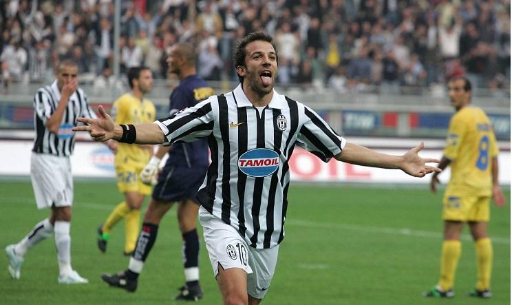 Del Piero auguri Totti