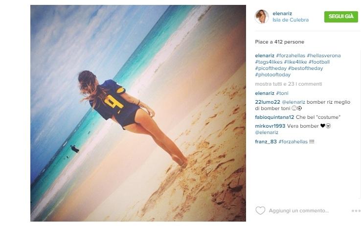 Elena Riz madrina Hellas Verona