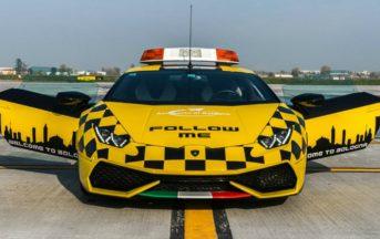 Lamborghini Huracan all'aeroporto di Bologna: ecco quale sarà il suo compito