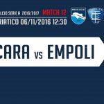 Pescara Empoli probabili formazioni