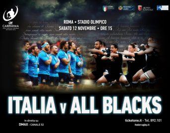 Rugby Italia – All Blacks prezzo biglietti, orario diretta tv e streaming gratis