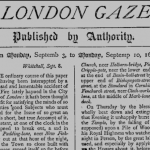 accadde oggi 7 novembre the london gazette