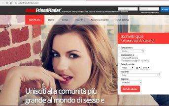"""Hackerato AdultFriendFinder: 400 milioni di utenti """"violati"""""""