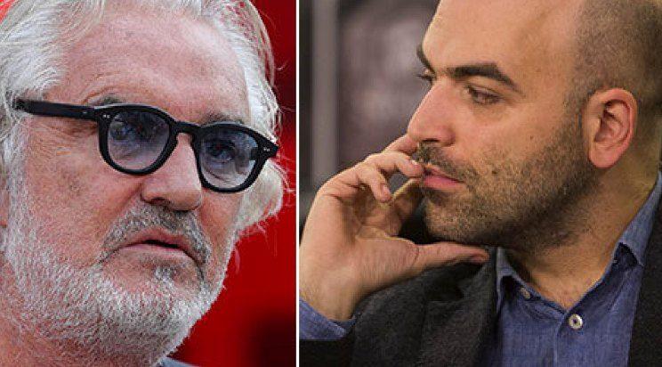 Flavio Briatore - Roberto Saviano, lite social.