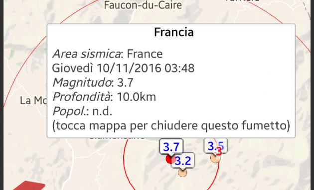 sciame sismico in francia