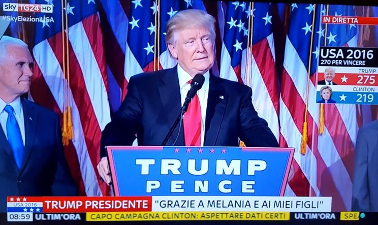 Trump nuovo presidente Usa