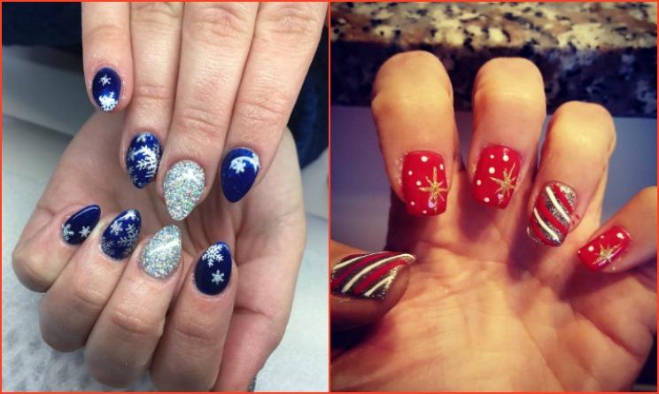 unghie natalizie 2016, unghie natalizie gel, unghie natalizie blu, unghie natalizie rosse, unghie natalizie blu e argento, unghie natalizie rosse e oro, unghie natalizie rosse e argento,