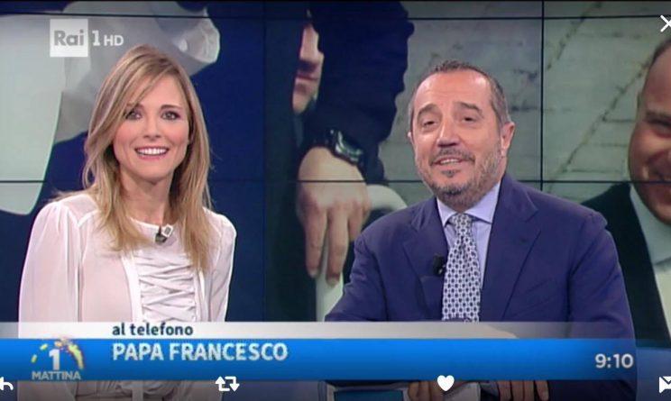 Unomattina, Papa Francesco telefona in diretta: stupore in studio
