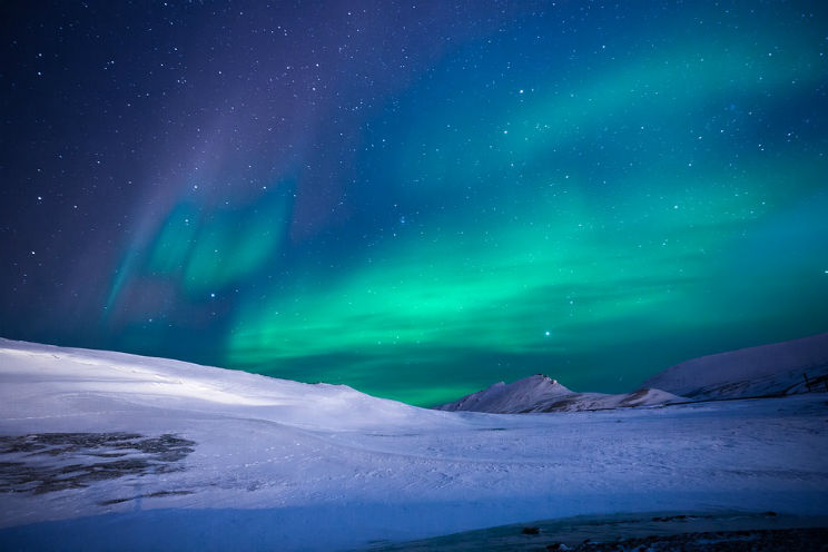 tempesta magnetica in corso aurore boreali