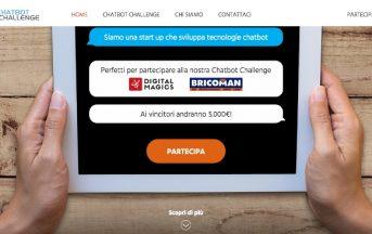 Bando startup innovative, CHATBOT CHALLENGE: Call for Innovation: Digital Magics e Bricoman alla ricerca dei migliori chatbot
