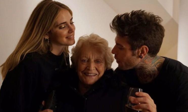 Fedez la nonna e Chiara Ferragni Instagram