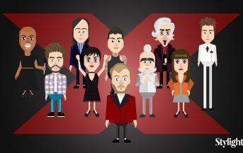 X Factor 2016 finale: i 9 giudici più stylish delle dieci edizioni in versione animata [FOTO]