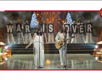 John Lennon e Yoko Ono interpretati da Attilio Fontana e Clizia Fornasier a Na Tale e Quale Show