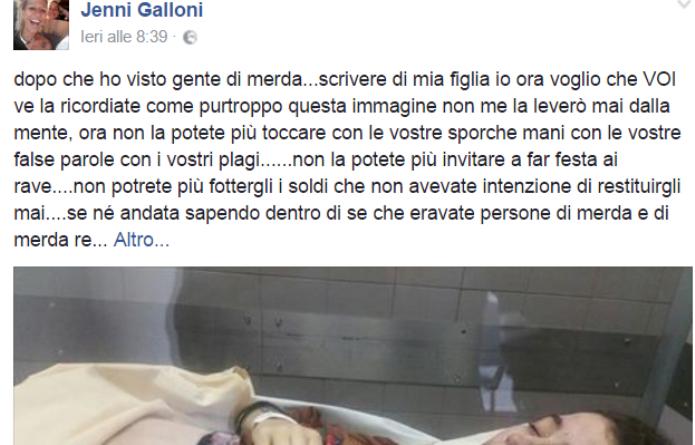 La ragazza incinta trovata morta: il messaggio choc della mamma su Facebook