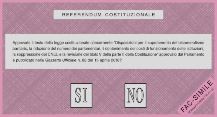 referendum costituzionale come e quando si vota