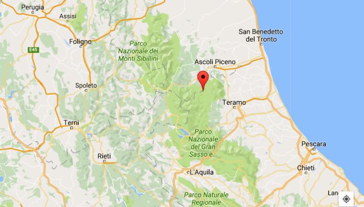Terremoto nel teramano: scossa di magnitudo 3.7 a Valle Castellana