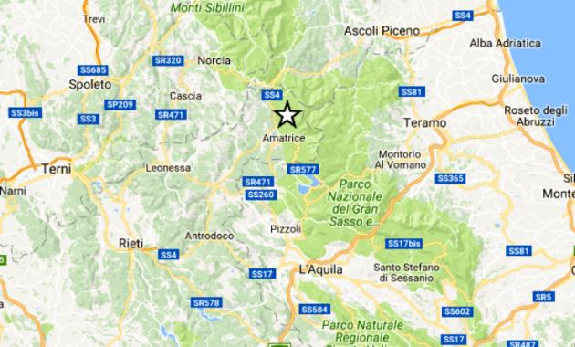 Amatrice, oggi terremoto 3.8 nella notte. Domani la visita di Mattarella