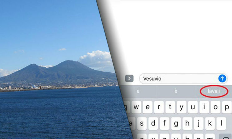 Apple, se scrivi Vesuvio iPhone suggerisce