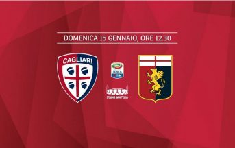 Dove vedere Cagliari – Genoa, Rojadirecta info: ora diretta tv e streaming gratis Serie A