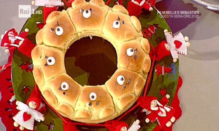 la prova del cuoco ricette 2 gennaio 2017, la prova del cuoco di oggi, la prova del cuoco ricette oggi, la prova del cuoco ricette dolci, la prova del cuoco corona di orsetti, corona di orsetti natalia cattelani