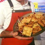 la prova del cuoco 10 gennaio 2017, la prova del cuoco oggi, la prova del cuoco ricette oggi, la prova del cuoco ricette, la prova del cuoco sfoglia croccante cardi e prosciutto, sfoglia croccante cardi e prosciutto sergio barzetti,