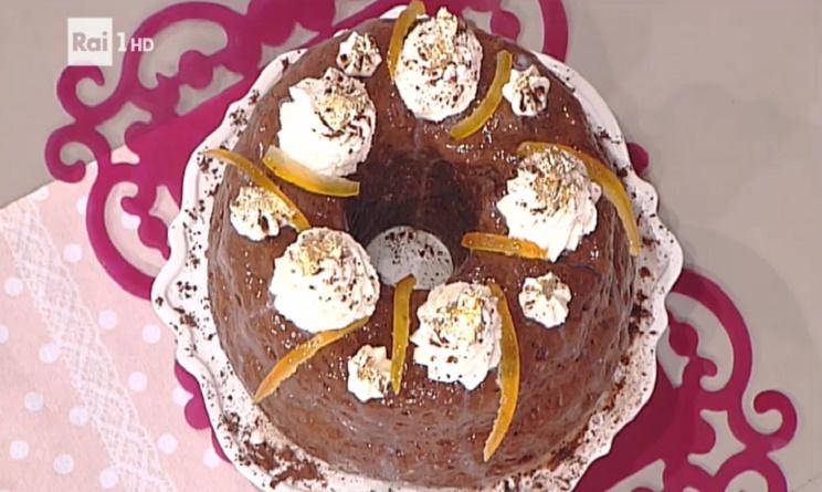 la prova del cuoco oggi, la prova del cuoco ricette dolci, la prova del cuoco ricette 3 gennaio 2017, la prova del cuoco ricetta savarin cacao e arancia ambra romani, savarin cacao e arancia ambra romani,
