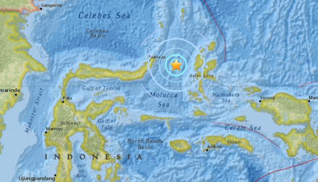 scossa 5.6 mare delle molucche indonesia