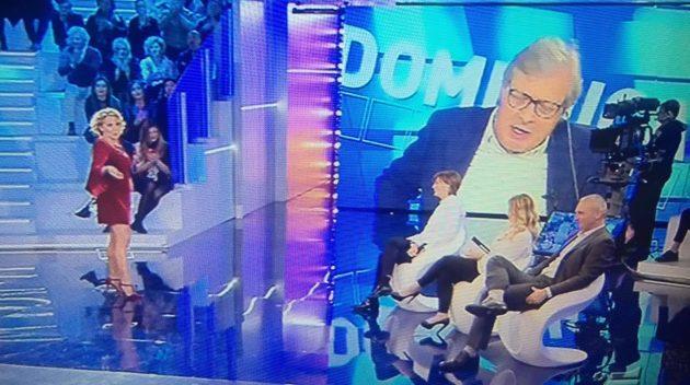Vittorio Sgarbi a domenica live