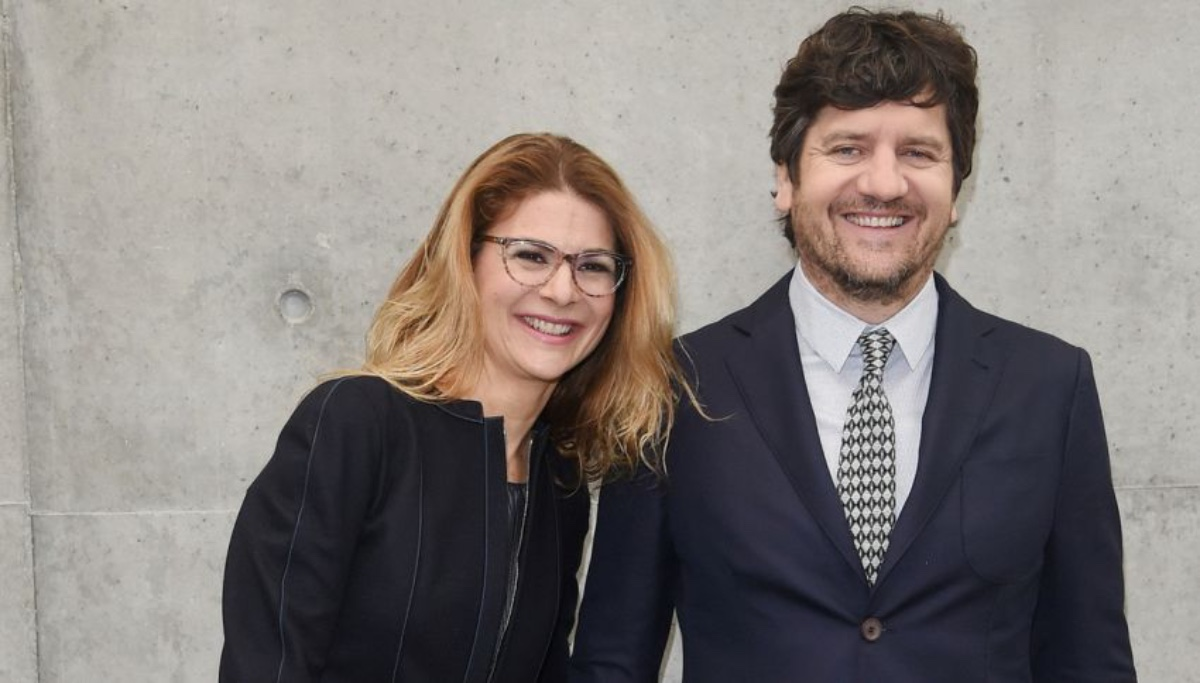 Fabio De Luigi e moglie