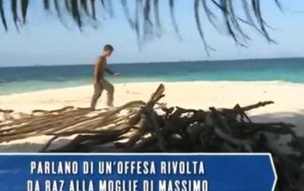 Isola dei Famosi 2017, l'abbandono di Massimo Ceccherini: la pesante offesa contro la moglie (VIDEO)