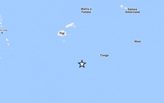 terremoto oggi magnitudo 6.8 isole fiji