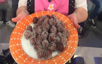 La Prova del Cuoco ricette dolci oggi: castagnole ricche al cacao di Natalia Cattelani