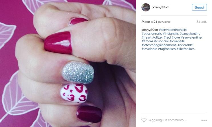 san valentino 2017 nail art, san valentino 2017 nails, san valentino 2017 unghie, unghie gel rosse,