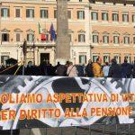 Aspettativa di vita depositata la petizione per l'abolizione