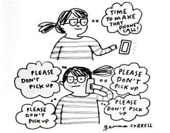 Attacchi di panico: Gemma Correll e le illustrazioni che raccontano l'ansia nella vita quotidiana