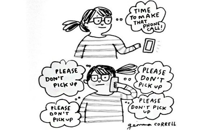 Gemma Correll illustrazioni sull ansia